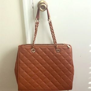 Vegan Leather Quilted Purse